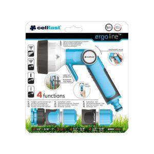 Vòi tưới tay gạt 4 chế độ Cellfast Ergo 21mm
